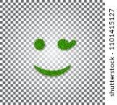 green grass wink smile 3d....   Shutterstock .eps vector #1101415127