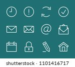 set email line icon stock...   Shutterstock .eps vector #1101416717