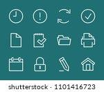 set print line icon stock...   Shutterstock .eps vector #1101416723