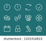 set pills line icon stock...   Shutterstock .eps vector #1101416813