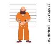 bearded male criminal with... | Shutterstock .eps vector #1101420383