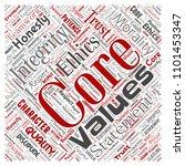 vector conceptual core values...   Shutterstock .eps vector #1101453347