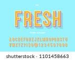 fresh font modern 3d typography ... | Shutterstock .eps vector #1101458663