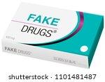 fake drugs  pharmaceutical fake ... | Shutterstock .eps vector #1101481487