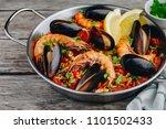 Spanish Seafood Paella With...