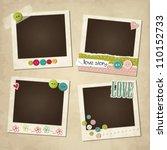 scrap vintage set of photo... | Shutterstock .eps vector #110152733