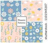 flower vector pattern for web... | Shutterstock .eps vector #1101545207