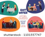 colored flat restaurant pub...   Shutterstock .eps vector #1101557747