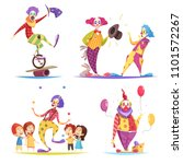 clowns design concept with...   Shutterstock .eps vector #1101572267