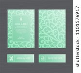 luxury wedding invitation or... | Shutterstock .eps vector #1101576917