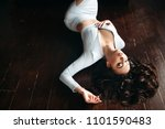 above view of beautiful  sexy... | Shutterstock . vector #1101590483