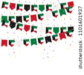 kuwait bunting flags with... | Shutterstock .eps vector #1101601937