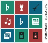 bass icon. collection of 9 bass ...   Shutterstock .eps vector #1101652247
