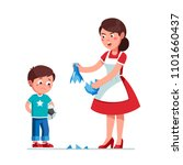 angry mother scolding sad... | Shutterstock .eps vector #1101660437