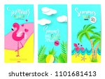 set of summer sale banner... | Shutterstock .eps vector #1101681413