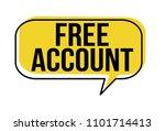 free account speech bubble on... | Shutterstock .eps vector #1101714413