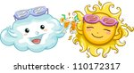 illustration of a sun and a... | Shutterstock .eps vector #110172317