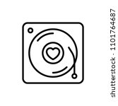 romantic song icon. music disc... | Shutterstock .eps vector #1101764687