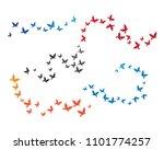 bird background template vector ...   Shutterstock .eps vector #1101774257