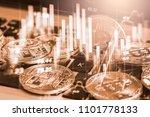 modern way of exchange. bitcoin ... | Shutterstock . vector #1101778133