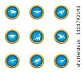 prehistoric animal icons set.... | Shutterstock .eps vector #1101792143