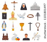 christian icons vector... | Shutterstock .eps vector #1101801497