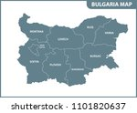the detailed map of bulgaria... | Shutterstock . vector #1101820637