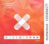 cross adhesive bandage  medical ... | Shutterstock .eps vector #1101836177