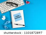 hello summer   inscription at... | Shutterstock . vector #1101872897