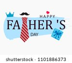 happy father's day vector... | Shutterstock .eps vector #1101886373