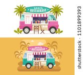 beach juice bar with drinks and ...   Shutterstock .eps vector #1101899393