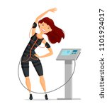 ems training. girl doing... | Shutterstock .eps vector #1101924017
