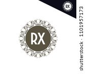 rx initial logo. luxury... | Shutterstock .eps vector #1101957173