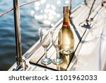 romantic luxury evening on... | Shutterstock . vector #1101962033