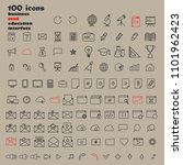set of 100 minimal modern thin...   Shutterstock .eps vector #1101962423