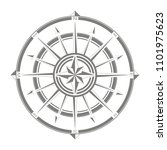 vector icon with compass rose... | Shutterstock .eps vector #1101975623
