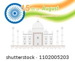 happy independence day india.... | Shutterstock .eps vector #1102005203