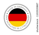 made in germany flag icon. | Shutterstock .eps vector #1102020887