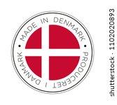 made in denmark flag icon. | Shutterstock .eps vector #1102020893