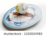 meringue dessert portion with... | Shutterstock . vector #1102024583