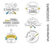 cooking class vintage design... | Shutterstock .eps vector #1102028693