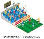 football championship isometric ... | Shutterstock .eps vector #1102029137
