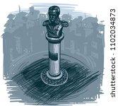 landmarks of sofia   monument... | Shutterstock .eps vector #1102034873