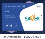quality one page saver website... | Shutterstock .eps vector #1102047617