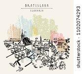 bratislava skyline  bratislava  ... | Shutterstock .eps vector #1102074293