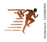 accelerating businessman icon.... | Shutterstock .eps vector #1102082903