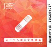 medical  plaster  adhesive... | Shutterstock .eps vector #1102096217