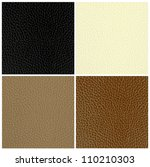 set of leather textures | Shutterstock .eps vector #110210303