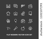 modern  simple vector icon set... | Shutterstock .eps vector #1102107293