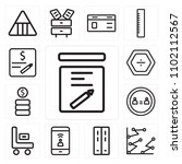 set of 13 icons such as note ...